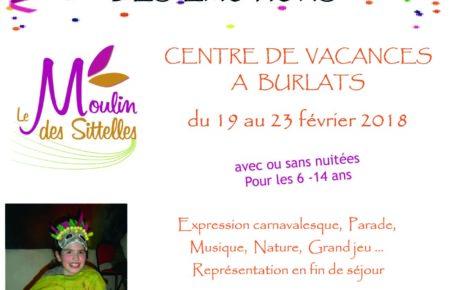 Séjours vacances Février 2018, «Le carnaval des émotions»