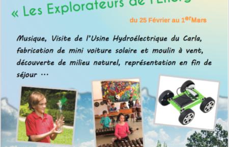Séjours vacances Février 2019, «Les explorateurs de l'Energie»