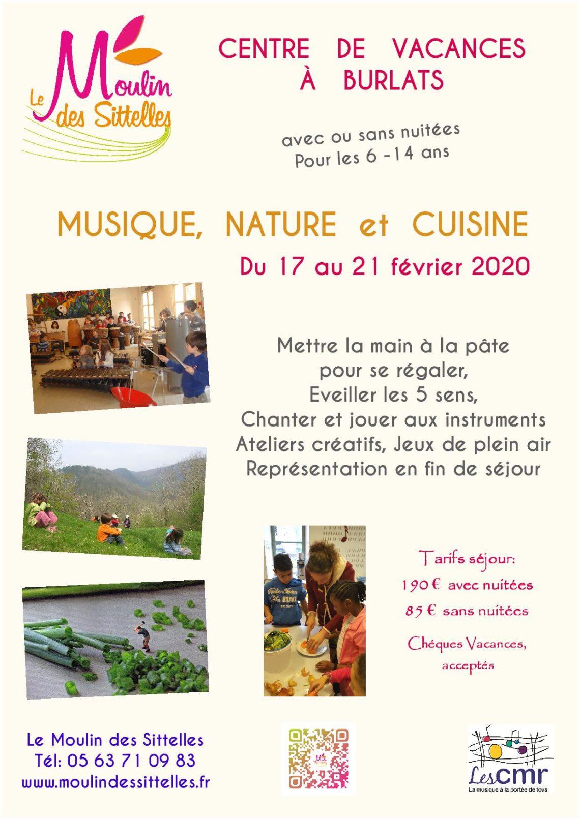 INSCRIPTION   Séjour «Musique, nature et cuisine»
