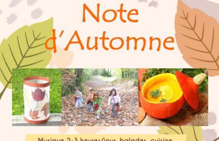 Séjour vacances «Note d'Automne»